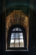 Grim Digital Art Acrylic Prints - Old wooden window Acrylic Print by Nathan Wright