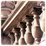 Belgium Photos - Old World Balustrade by Carol Groenen