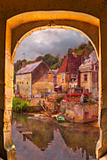 Farm Towns Posters - Old World Poster by Debra and Dave Vanderlaan