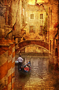Europe Digital Art Metal Prints - Old World Gondola Metal Print by Greg Sharpe