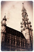 The Grand Place Photo Framed Prints - Old World Grand Place Framed Print by Carol Groenen