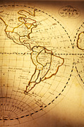 Latin America Photos - Old World Map by Colin and Linda McKie