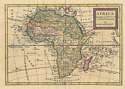 World Map Canvas Photos - Old World Map of Africa by Inspired Nature Photography By Shelley Myke