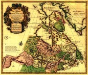 World Map Print Photo Prints - Old World Map of Canada Print by Inspired Nature Photography By Shelley Myke