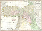 Vintage Map Photos - Old World Map of Turkey in Asia by Inspired Nature Photography By Shelley Myke