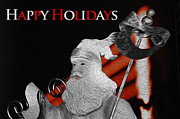 Holiday Card Digital Art Prints - Old World Santa Holiday Card Print by Greg Sharpe