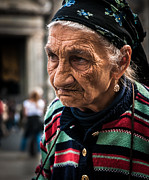 Old Lady Photos - Old wrinkled woman by Bob Rowlands