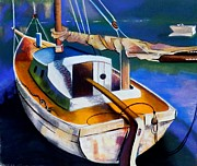 Rowboat Pastels - Old Yacht by Susan Robinson