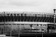 Yankees Prints - old Yankee baseball stadium the bronx new york city Print by Joe Fox
