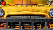 Rusted Cars Posters - Old Yellow By Diana Sainz Poster by Diana Sainz