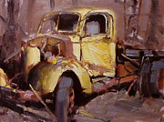 David Simons Art - Old Yellow Truck by David Simons