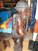 Old Reliefs - Old Zulu Man Wooden Sculpture by Untitled