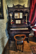 Pianist Framed Prints - Olde Piano Framed Print by Ian Mitchell