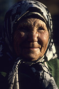 Pensioners Framed Prints - Older Siberian Woman Framed Print by David Litschel