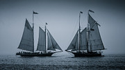 Schooners Framed Prints - Oldest Schooners Framed Print by Fred LeBlanc