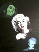 James Dean Painting Originals - Oldies by April  Weller