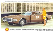 Mechanical Painting Posters - Oldsmobile Front Wheel Drive Toronado Poster by Kip DeVore