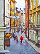 Stockholm Digital Art - Oldtown Stockholm by Digital Photographic Arts