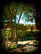 Shed Digital Art Metal Prints - Ole Garden Gate Metal Print by Sheri McLeroy