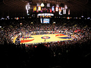 Athletics Photo Prints - Ole Miss Rebels C.M. Tad Smith Coliseum Print by Replay Photos