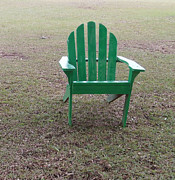 Lawn Chair Posters - Ole Weathered Chair Poster by Joseph Baril