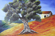 Randall Brewer Prints - Olive Tree  Print by Randall Brewer