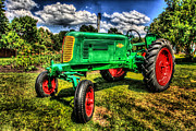 Oliver Tractor Framed Prints - Oliver Row Crop 70 Framed Print by Ray Congrove