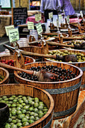 Markets Framed Prints - Olives Framed Print by Heather Applegate