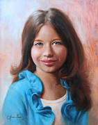 Portrait Paintings - Olivia by Anna Bain