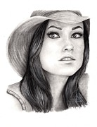 Rosalinda Drawings - Olivia Wilde by Rosalinda Markle