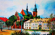 Pathway Paintings - Olkusz Town Center by Ryszard Sleczka