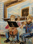 Musicians Pastels - Ollie and Carolyn by Tim  Swagerle