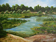 Ollie Paintings - Ollies Pond one by Kathy Przepadlo