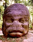Olmec Framed Prints - Olmec Head #1 Framed Print by Robert  Rodvik