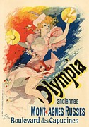 French Poster Posters - Olympia Poster by Sanely Great