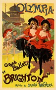 Paris Cafe Prints - Olympia Grand Ballet Brighton Print by Sanely Great