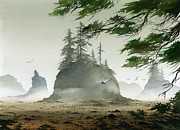 Seashore Fine Art Print Posters - Olympic Coast Sea Stacks Poster by James Williamson