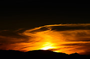Sunset Posters Prints - Olympic Mountain Sunset Photography Print by Puget  Exposure