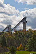 Lake Placid Ny Photos - Olympic Ski Jumps Lake Placid by David Seguin