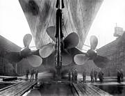 Titanic Propellers 1911 Print by Stefan Kuhn