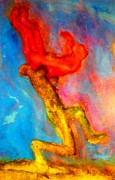 Widerberg Paintings - Olympic Wrestling Forever by Hilde Widerberg