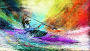 Olympics Canoe Slalom 03 Print by Miki De Goodaboom