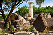 Columns Of Greece Framed Prints - Olympus Ruins Framed Print by Brian Jannsen