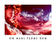 Family Love Digital Art - Om Mani Padme Hum by Vee Huynh