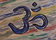 Namaste Paintings - Om by Victoria Lakes