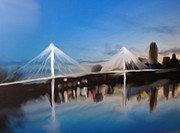 River Scenes Mixed Media - Omaha Bob Kerry Walking Bridge by Dennis Buckman