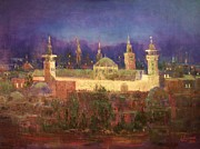 Laila Awad  Jamaleldin - Omayyad Mosque at Night.