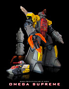 Raf Mixed Media Posters - Omega Supreme Poster by Frenzyrumble