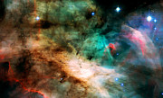 Telescope Images Prints - Omega Swan Nebula 2 Print by The  Vault - Jennifer Rondinelli Reilly