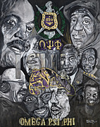 Fraternity Painting Prints - Omega Print by Timothy Giles